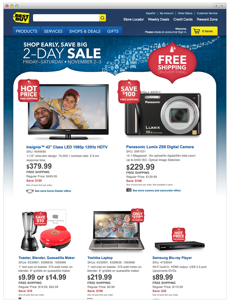 Best Buy - Thanksgiving Page