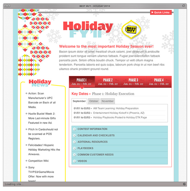 Best Buy Holiday Site