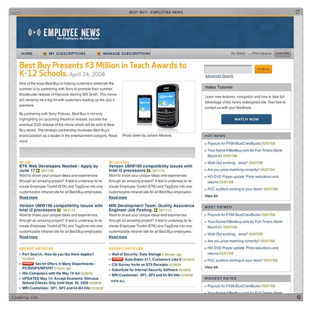 Best Buy - Employee Site