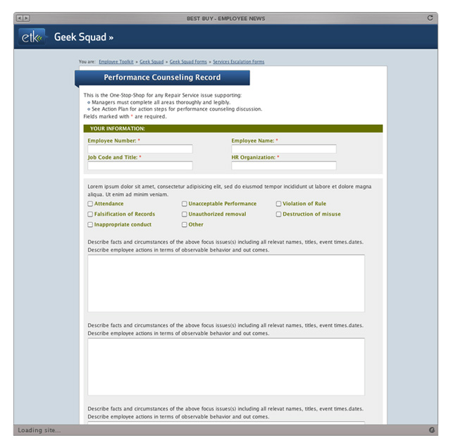 Best Buy - ETK Forms